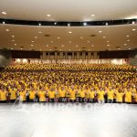 yellow shirt, volunteers
