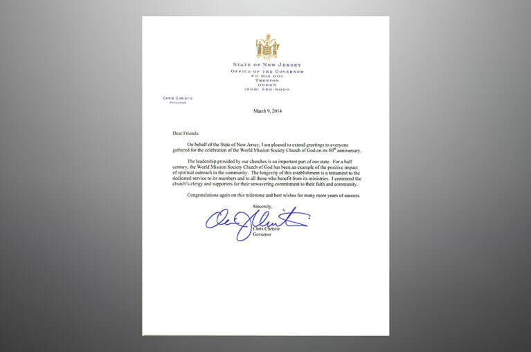New jersey governor chris christie congratulates church on 50th new jersey governor chris christie congratulates church on 50th anniversary m4hsunfo