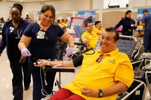 east coast mega blood drive 2016, world mission society church of god, new windsor, yellow shirt, volunteer