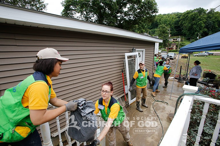 WV West Virginia Flooding, World Mission Society Church of God, wmscog, volunteers, disaster relief, cleanup, Church of God