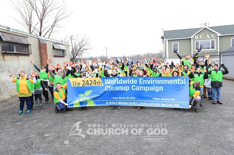 World Mission Society Church of God, WMSCOG, Cleanup, Jamaica Bay, Beach, Environment, Volunteerism, New York, Passover, American Littoral Society