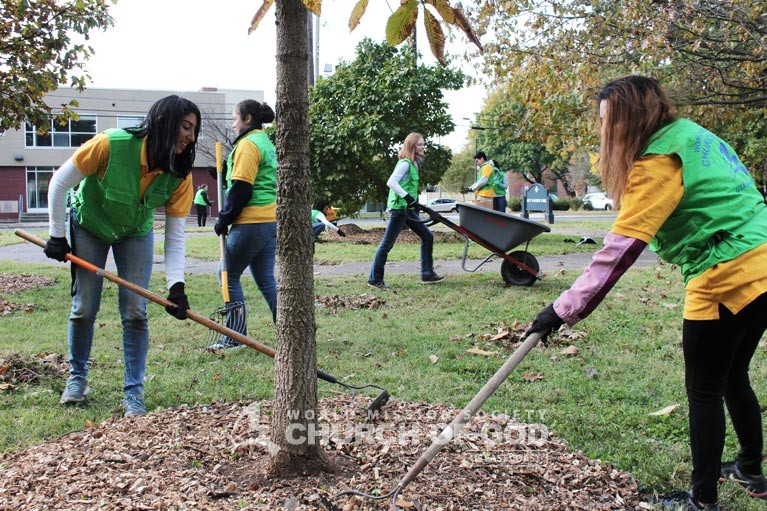 ASEZ, wmscog, world mission society church of god, louisville, kentucky, cleanup, landscaping, reduce crime, volunteerism, Ben Washer Park, University of Louisville, Spalding University