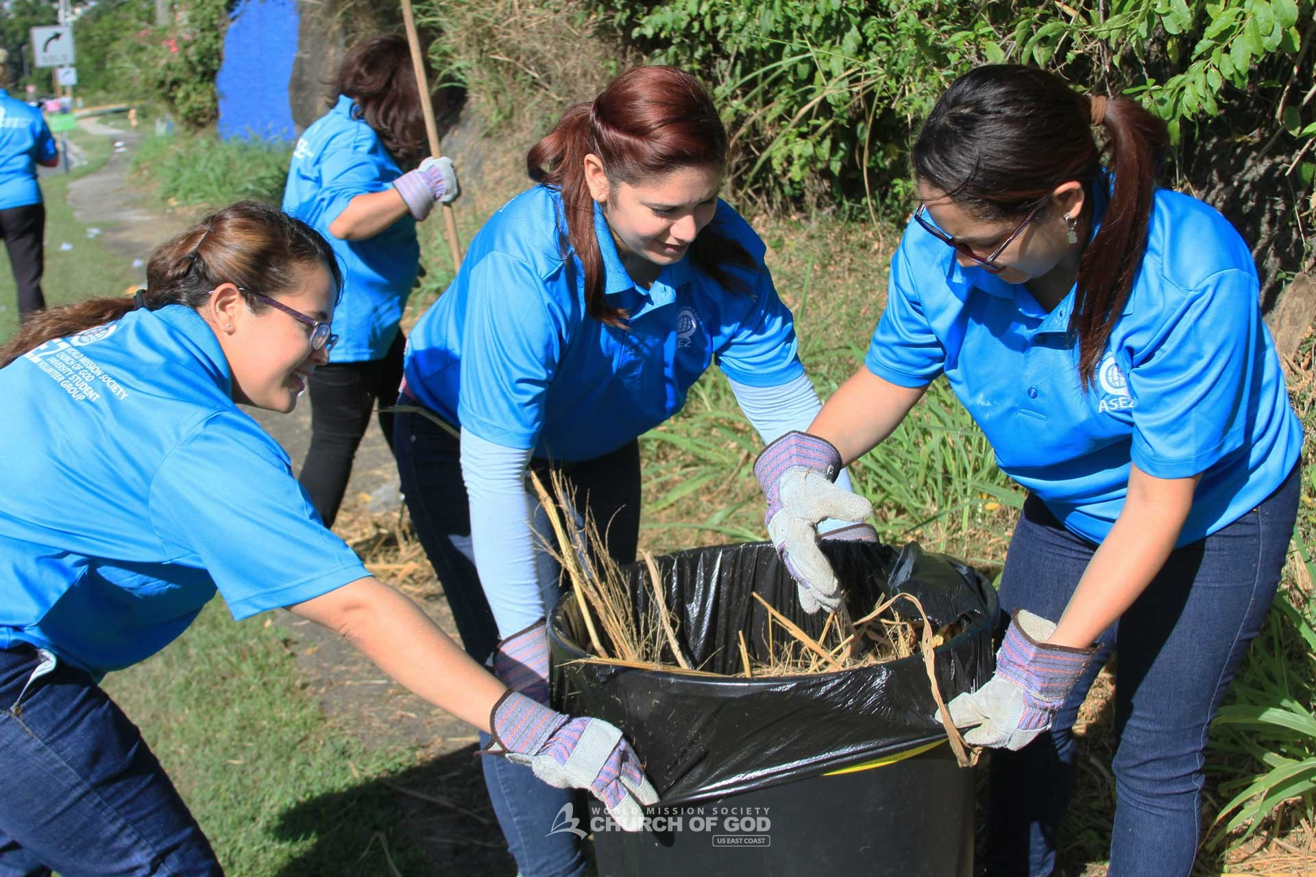 ASEZ, wmscog, world mission society church of god, PR, Puerto Rico, Guaynabo, cleanup, reduce crime, volunteerism, university