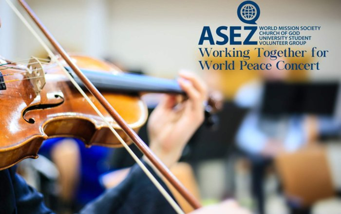 ASEZ, wmscog, world mission society church of god, New Windsor, NY, concert, reduce crime, volunteerism, music, world peace, UN, United Nations, Sustainable Development Goals, SDGs