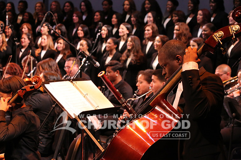 World Mission Society Church of God orchestra performing during Mother's Love the Key to Global Harmony