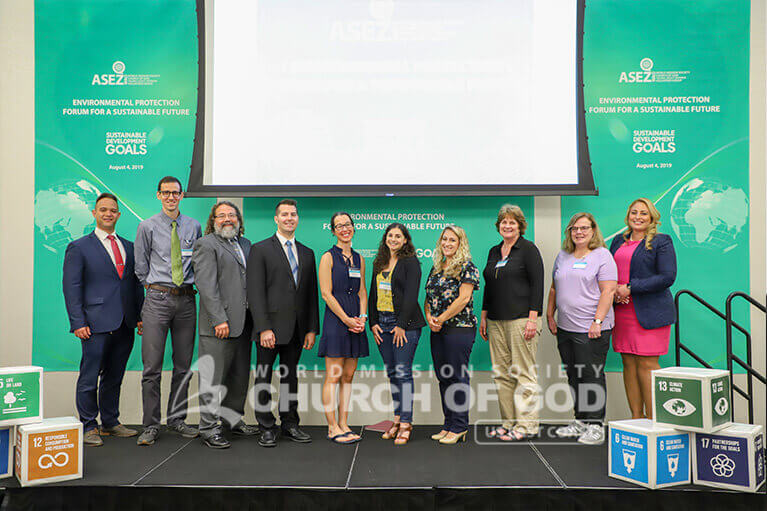 Group photo of speakers and ASEZ WAO representatives during the Environmental Protection Forum